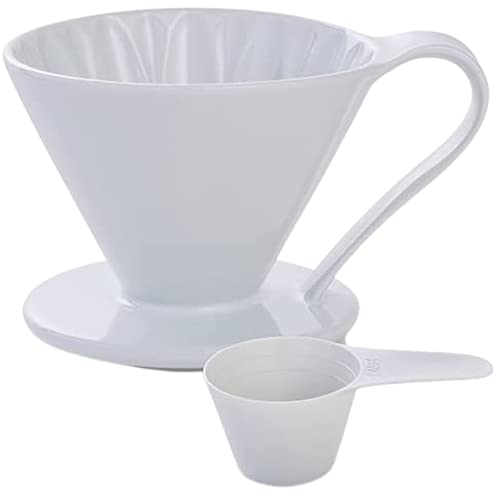 5 Beautiful Colors: Pour Over Coffee Dripper by Sanyo Sangyo: Porcelain Ceramic 1-to-4 Cup Brewer