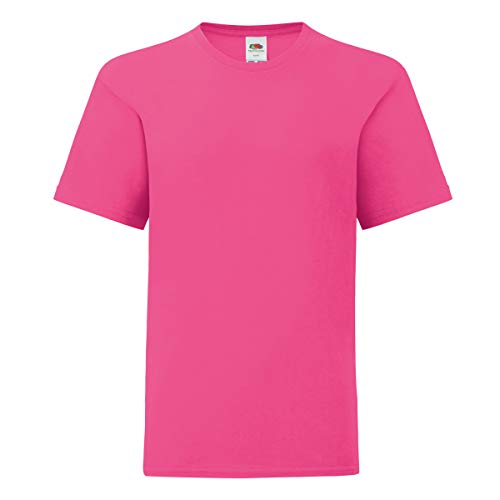 Fruit of the Loom - Camiseta Original para niños (9-11 Años) (Rosa Fucsia)