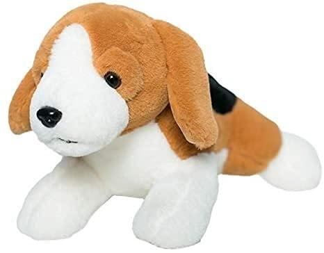 XINQ 40-80 cm Vestido de simulación Beagles Perro Peluche de Peluche Relleno Lifelike Animales Beagles Abrazo Tirar Almohada para Boy Cumpleaños Regalo Real Dog Touch About57-60cm Rosepink