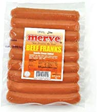Merve Halal Beef Frank Halal Hot Dog 1lb (8 stick)