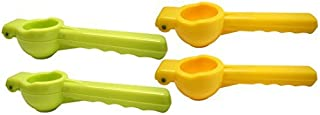Set of 4 Black Duck Brand Citrus Squeezers! Lemon and Lime Colors! - Quality Hand Juicers for Quick and Easy Citrus Juicin...