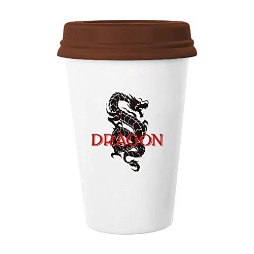 Caneca de cerâmica de dragão mito leste oeste copo de café copo de cerâmica