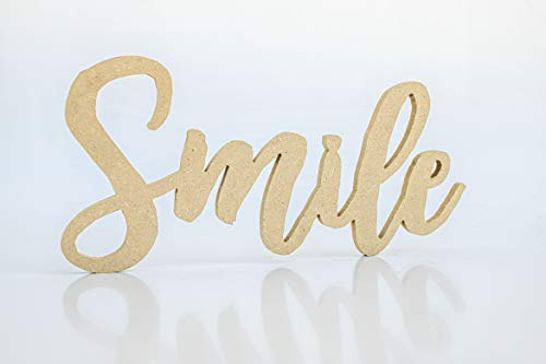 Wood Addicts Palabra Decorativa Smile en DM