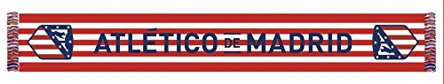 Bufanda Telar Atlético de Madrid Rayas Horizontal - Nuevo Escudo - Rojo - Blanco - Azul Marino