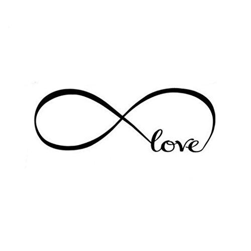Stonges Love Infinity Symbol Vinilo Calcomanías de pared de vinilo diciendo palabras para la sala de estar Dormitorio Art Sticker Home Decoration