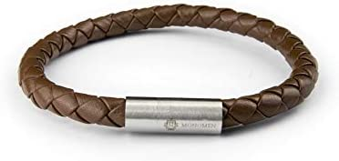Monomen Men MM10817 Stainless Steel Bracelet, Without Stones -Brown