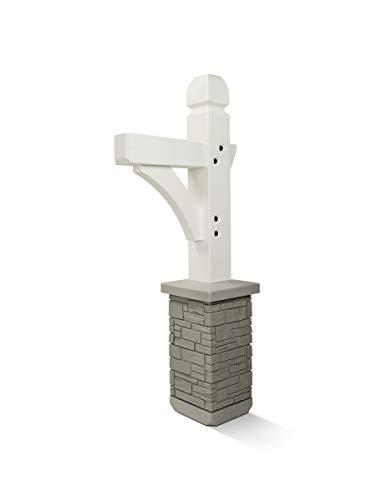 Premium Mailbox Post Set (Cross-Arm, Classic White)