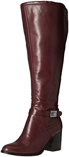 Franco Sarto Women's Arlette Wide Calf Riding Boot, Burgundy, 5 M US