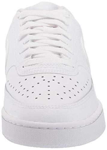 Nike Court Vision Low, Sneaker Mujer, White/White-White, 37.5 EU