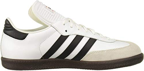 adidas Men's Samba Classic Running Shoe, white/black/white, 11 M US