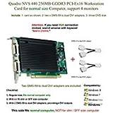 Quadro NVS 440 256MB GDDR3 PCI-Ex16, Support 4-Monitor, DVI Connection