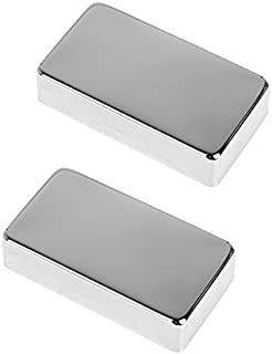 Timiy Durable Lightweight Electric Guitar Sealing Closed Humbucker Pickup Covers 2Pcs (Silver)