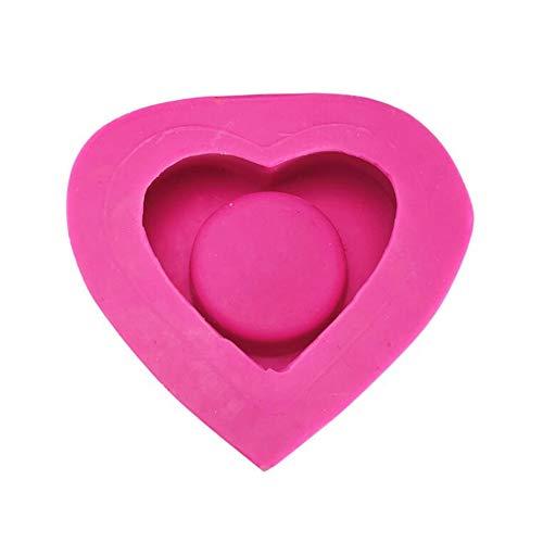 3D-Silikonform in Herzform für Kerzenhalter, Form für Kerzenhalter, Silikonform, Sukkulenten-Form, Bastel-Gipsform, Gipsform, Beton, Zement, Handwerk, Ton, Aromatherapie, Tonform, Gipsform
