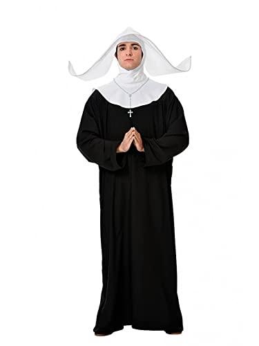 DISBACANAL Disfraz de Monja para Hombre - XL