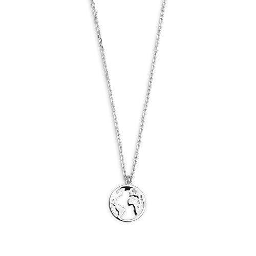 XENOX XS3160 Damen Collier Welt Erde Sterling-Silber 925 Silber 45 cm