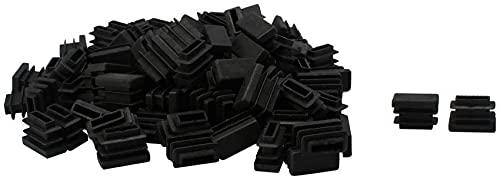 LBYJ Tapa del pie de la Silla, 105 Piezas 10 x 20 mm Rectángulo de plástico Inserciones de Tubo Acanalado Tapa de la Cubierta del Extremo Protector de Piso de los pies de la Silla desli