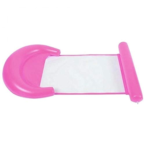 MHSHCQ Fila Fila PVC Deportes de Agua Plegable Deportes Cama Flotante Silla Hombre Inflable Fila Flotante Piscina Agua Entretenimiento Suministros Airberss (Color : Pink)