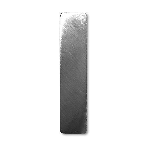 """Metall-Buchstabe """"I"""" aus gebürstetem Edelstahl – Höhe 4cm – Hausnummer, Zimmerbeschriftung, Bürobeschriftung, Türsymbol, Wandbeschilderung – rostfrei und selbstklebend ohne bohren"""