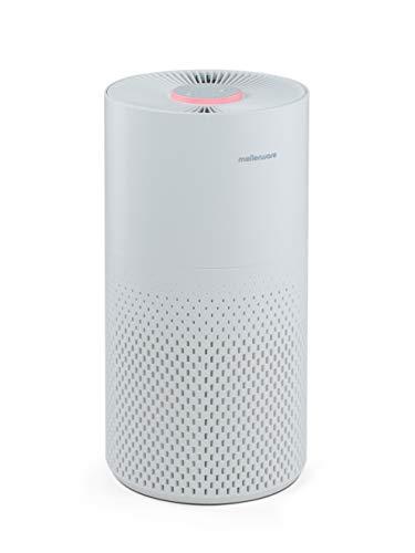 Mellerware Freshly! Small Purificador de Aire Compacto hasta 16 m² con sensores de Nivel de contaminación, 3 Niveles de filtración Filtro HEPA 13. 56 dB