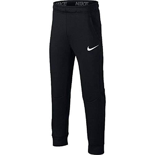 Nike Jungen Dry Taper Fleece Trainingshose, Black/White, S