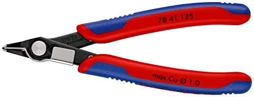 KNIPEX 78 41 125 Electronic Super Knips® brüniert mit Mehrkomponenten-Hüllen 125 mm