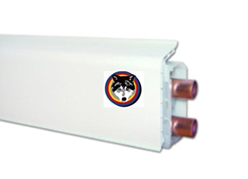 HZ Sockelleisten Fußbodenleisten Heizungsrohrverkleidung SLF 2000 Farbe weiss 2,00 meter