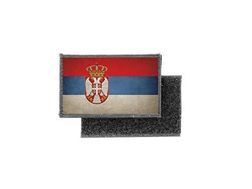 Aufnäher patch aufbügler vintage gedruckt flagge fahne serbien