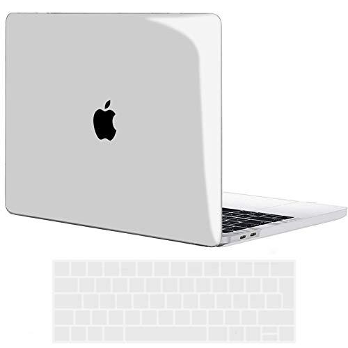 TECOOL Custodia MacBook PRO 15 Pollici 2019 2018 2017 2016 Case, Plastica Cover Rigida Copertina & Copertura della Tastiera per MacBook PRO 15,4 con Touch Bar (Modello: A1707/ A1990) -Trasparente