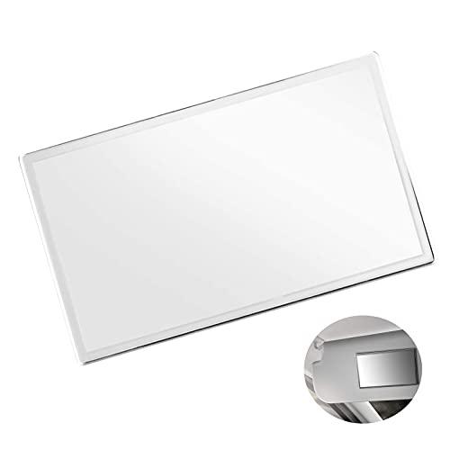 Espejo De Maquillaje Para Coche,Espejo De Maquillaje De Autos Portátiles,Espejo De Tocador Autoadhesivo,Para Visera y Asiento Trasero(150*80mm)