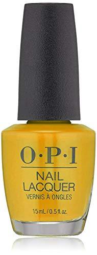 OPI Nail Laquer - Esmalte Uñas Duración de Hasta 7 Días, Efecto Manicura Profesional, 'Sun Sea And Sand In My Pant' Amarillo - 15 ml