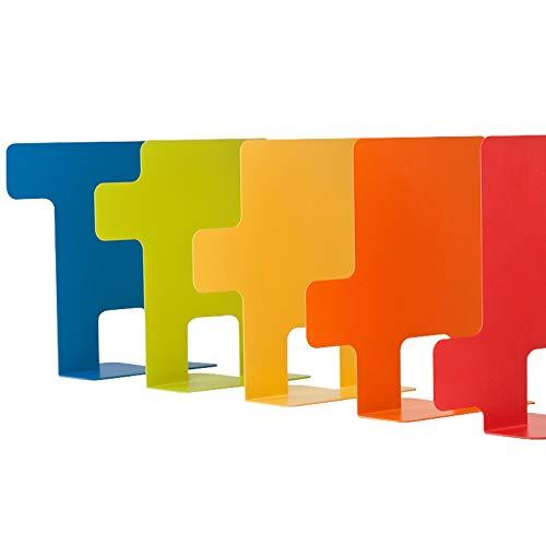 """"""" INDICE"""" 5 Stk. bunte Designer Buchstützer/Buchhalter/Buchständer aus Metall mit Registerfunktion, japanisches Design (von Heych)"""