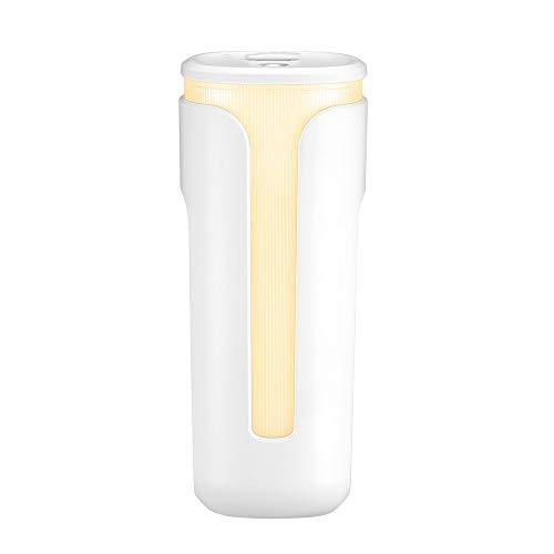 LEYIS Humidificador de Aire USB 260ml Copa de Cubo Moda Aroma ultrasónico Difusor de Aire Humidificador de aromaterapia para la Sala de Estar de Oficina (Color : White)