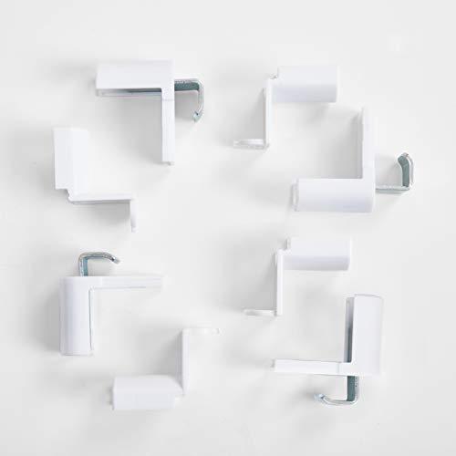Allesin Metall Klemmträger Klemmhalter ür Klemmfix Wabenplissee Plissee ohne Bohren Zubehör Montage-Set 4 Stück weiß