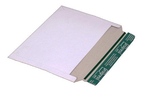 progressPACK Versandtasche quer, PP V07.03 aus Vollpappe, DIN A4, 320 x 225 mm, 25-er Pack, Weiß