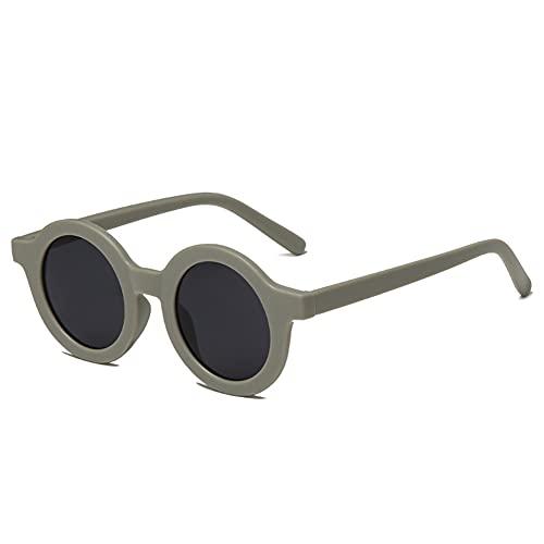 Gafas de sol redondas retro para mujer y hombre Gafas de protección UV400 de YAMEIZE