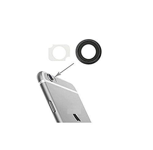 Repuesto de cristal para carcasa trasera de cristal para objetivo de cámara de fotos + adhesivo de doble cara compatible con iPhone 6 6G 6S