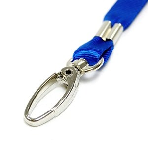 Feesy 5 pcs Blue Clasp Neck Strap Band Lanyard For ID card, badge, Factory worker, Students, office worker, etc + Cosmos cable tie
