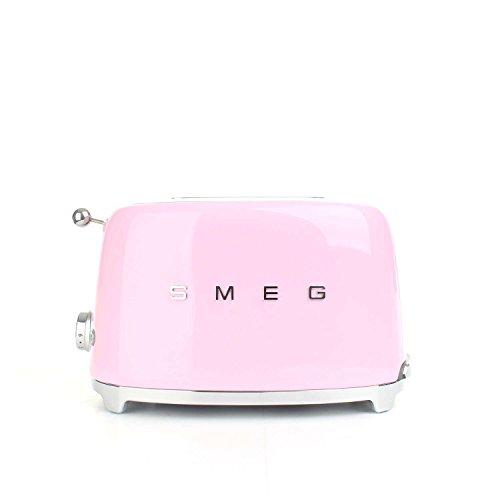 SMEG TSF01PKEU | Broodrooster 2 plakjes 50's Style | Kleur : pastelroze