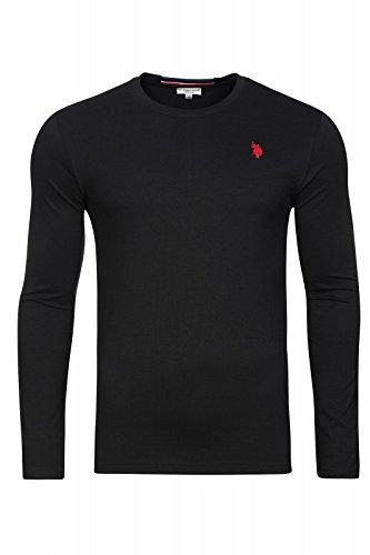 U.S. POLO ASSN. Shirt Sweatshirt Herren Langarmshirt Longsleeve Schwarz 168 42963 51884 199, Größenauswahl:XL