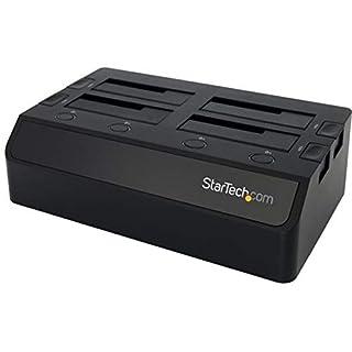 "StarTech - SDOCK4U33 .com 4 Bay USB 3.0 (5 Gbps) Hard Drive Docking Station w/UASP for 2.5"" & 3.5"" SATA SSD HDD - Multiple External Hard Drive Dock (SDOCK4U33), Quad Bay Black (B00MA1N8GA)   Amazon price tracker / tracking, Amazon price history charts, Amazon price watches, Amazon price drop alerts"