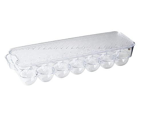 huevera de plástico apilable para 14 huevos, caja de huevos, transparente