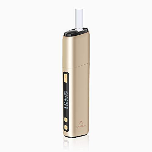 LAMBDA CC (Ultima Versione) Dispositivo di riscaldamento non bruciatura per tabacco Heets Heat Sticks Starter Kit con parte sostituibile della lama riscaldante (oro)