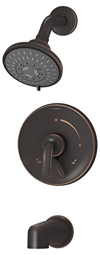 Symmons S-5502-SBZ-TRM Elm 1- Handle Tub and Shower Faucet Trim, Seasoned Bronze