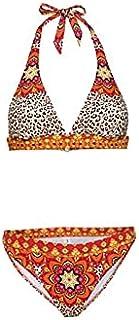 Chenkaifang Swimsuit Women's 2 Piece Set Women Bathing Top Frilly With Heights Waisted Swimwear Bottom Halter Bikini Set (...