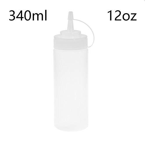 340 ml Knijpfles Kookaccessoires Mosterdazijn Saladesaus Olie-dispenser Ketchup-pot Keukenorganisatorgereedschap