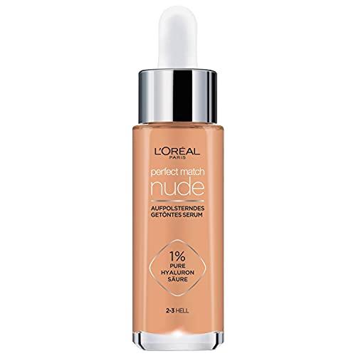 L'Oréal Paris Getöntes Serum, Pflegende, flüssige Foundation mit Hyaluronsäure, Perfect Match Tinted Serum, Nr. 2-3 hell, 1 x 30 ml