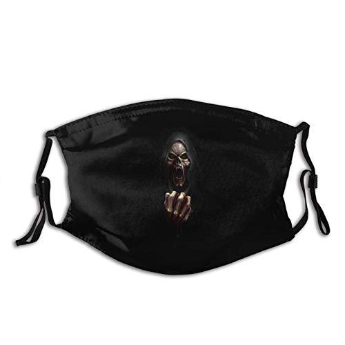 Grim Reaper Skull Ossa Sangue Malvagio Vampiro Copertura Viso Regolabile Passamontagna Bandane Lavabile Riutilizzabile Yoga Corsa