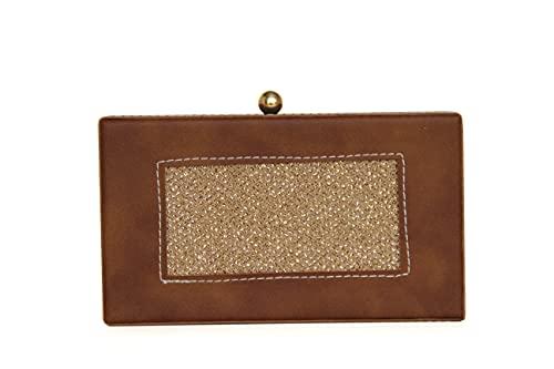 Generic Bolso de mano para mujer para bodas o fiestas, para niñas, bolso de noche, de madera
