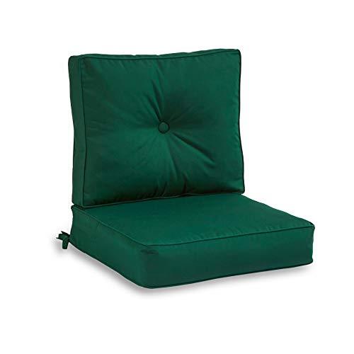 South Pine Porch AMSC7830-FOREST Forest Green Sunbrella Fabric 2-Piece Outdoor Deep Seat Cushion Set