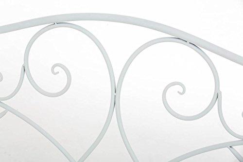 CLP Gartenbank FILIZ im Landhausstil, Eisen lackiert, ca. 105 x 55 cm – 2er Sitzbank Weiß - 5